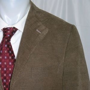 Fusaro Three Roll Two Cotton Hacking Blazer 40R